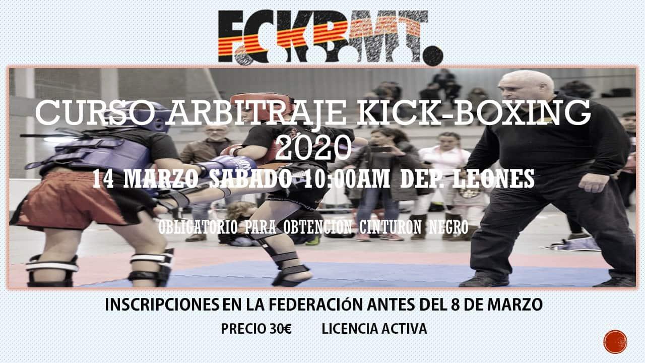 CURSO ARBITRAJE KICK BOXING 2020
