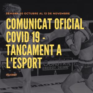 Comunicat Oficial Covid 19 - tancament a l'esport