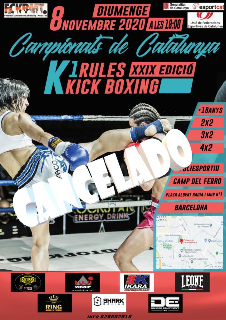 CAMPIONAT CATALUNYA KICK BOXING/K1 RULES 2020 FCKBMT