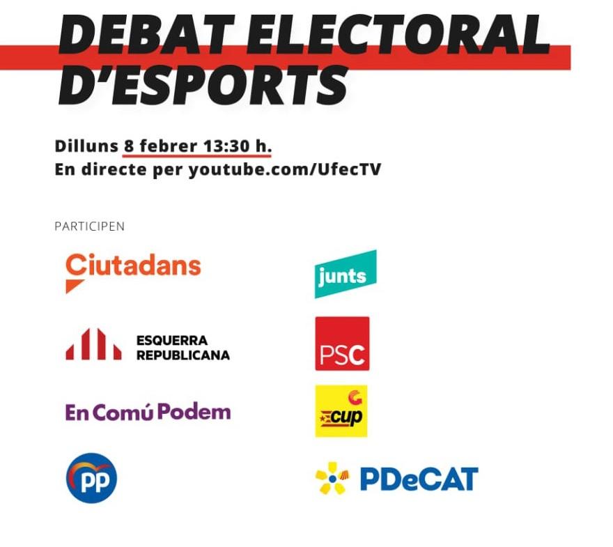 debate electoral sobre el deporte