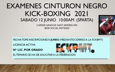 Próximos exámenes Cinturón Negro Kick-Boxing