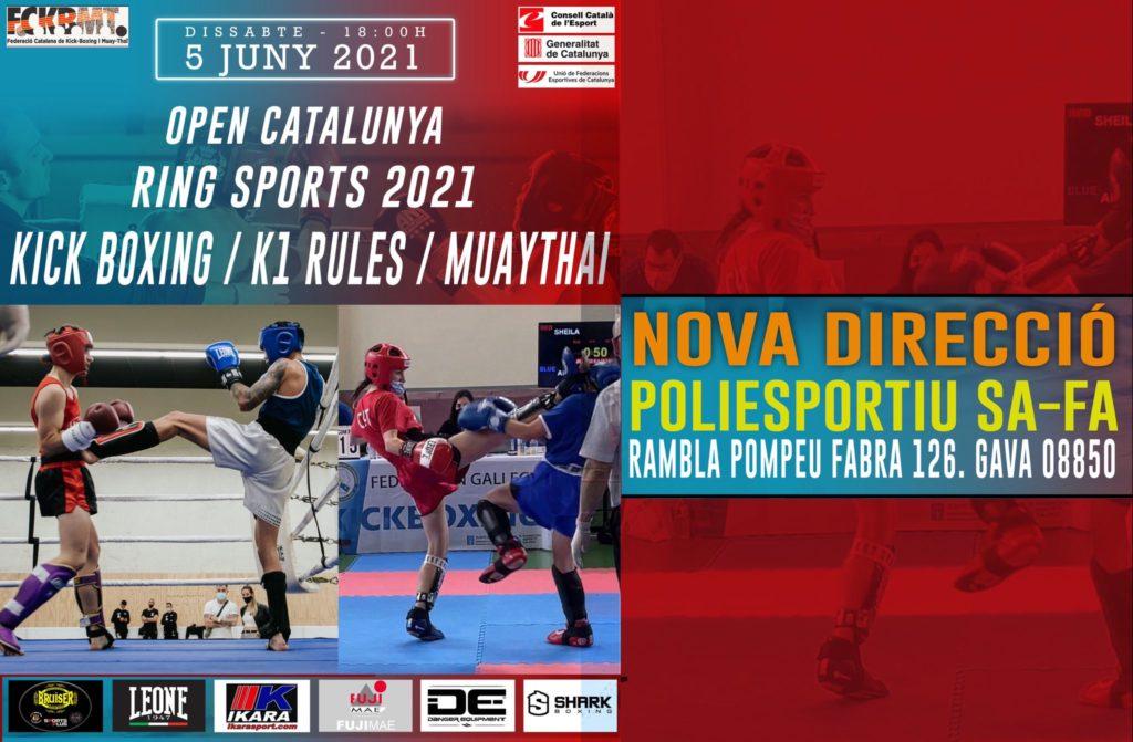 S' informa del canvi de celebracio del Open Catalunya